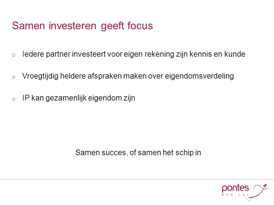 Samen investeren geeft focus
