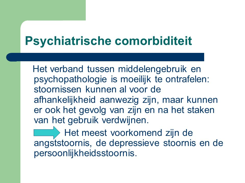 Psychiatrische comorbiditeit