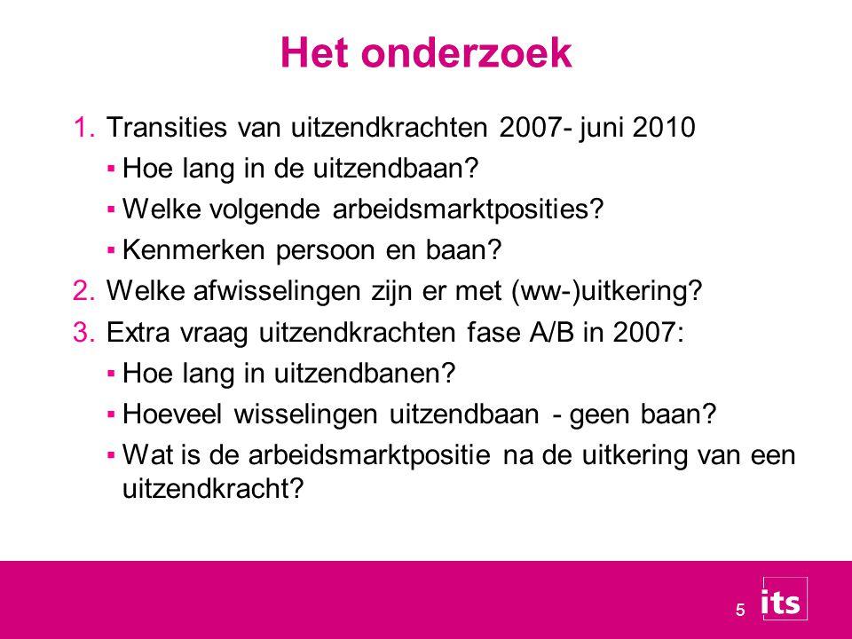 Het onderzoek Transities van uitzendkrachten 2007- juni 2010