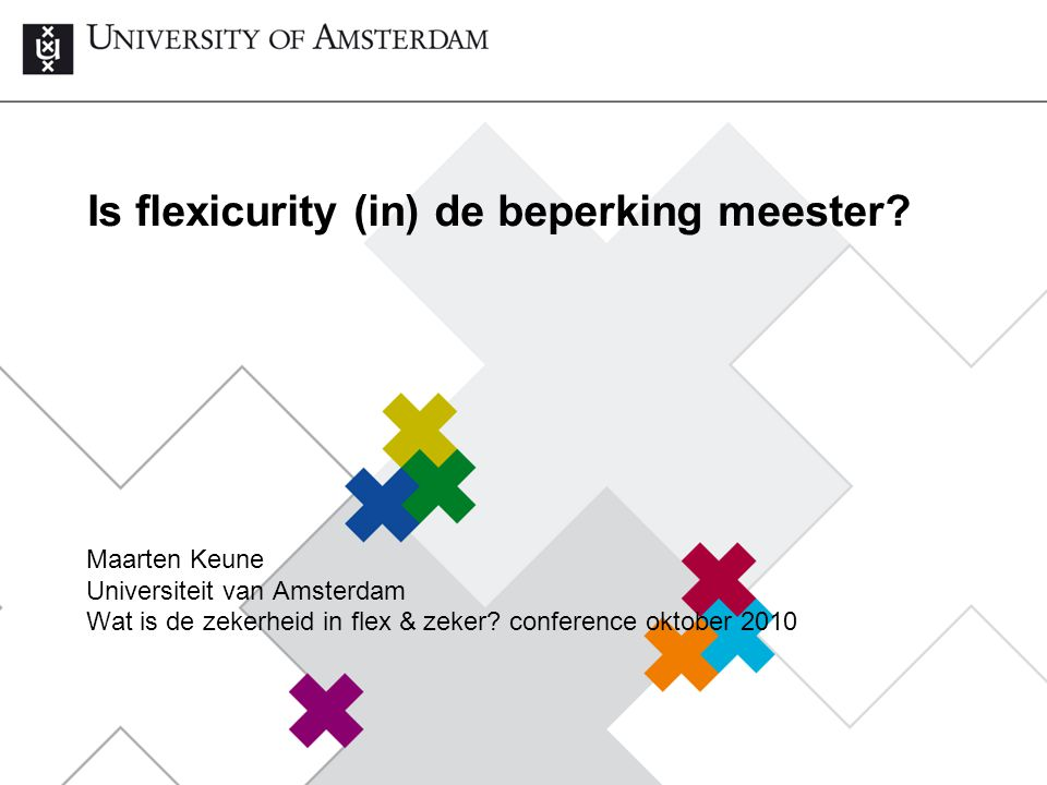 Is flexicurity (in) de beperking meester