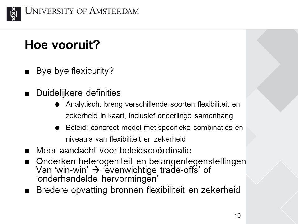 Hoe vooruit Bye bye flexicurity Duidelijkere definities