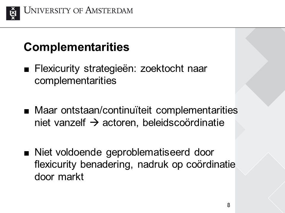 Complementarities Flexicurity strategieën: zoektocht naar complementarities.