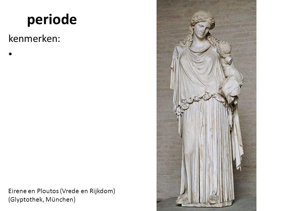 periode kenmerken: Eirene en Ploutos (Vrede en Rijkdom) (Glyptothek, München)