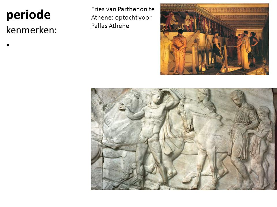 Fries van Parthenon te Athene: optocht voor Pallas Athene