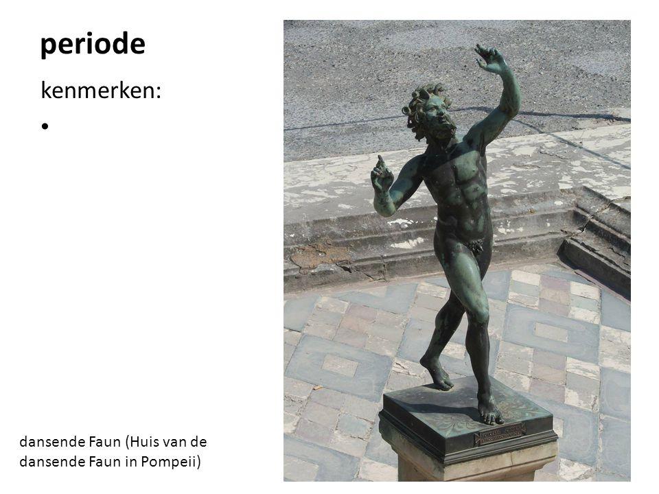 periode kenmerken: dansende Faun (Huis van de dansende Faun in Pompeii)
