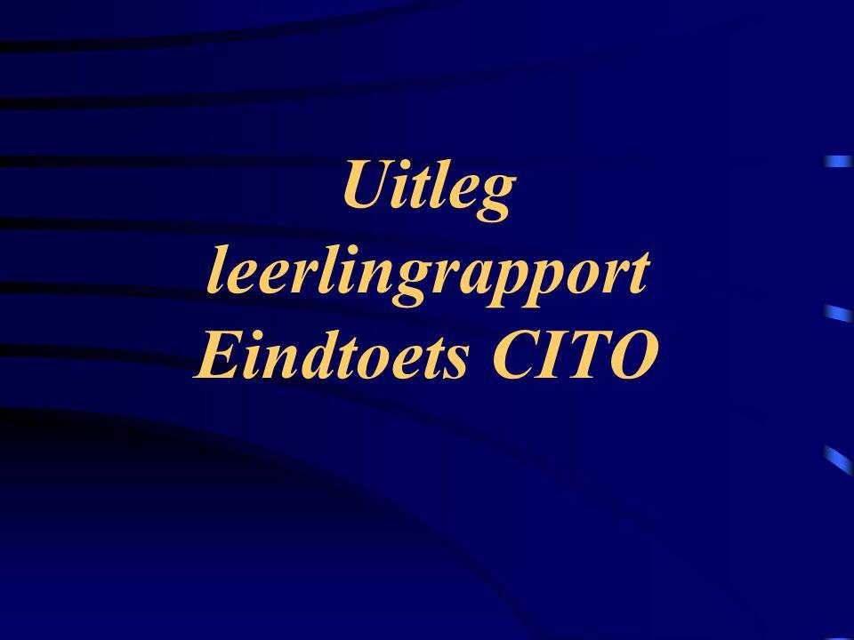 Uitleg leerlingrapport Eindtoets CITO