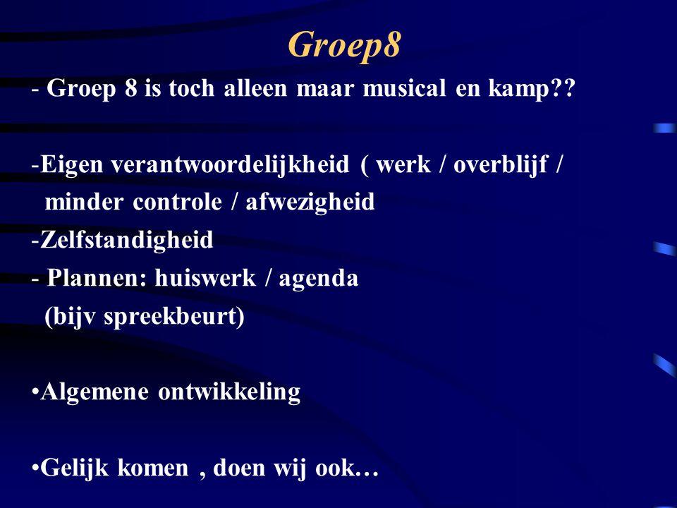 Groep8 Groep 8 is toch alleen maar musical en kamp