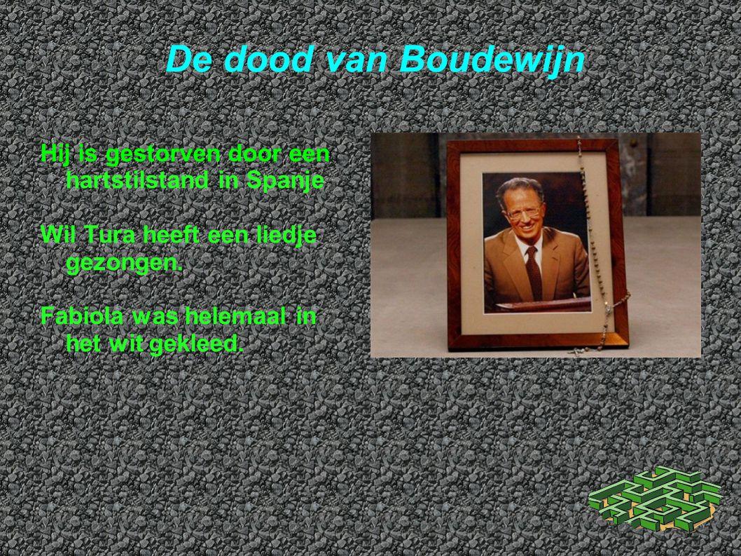 De dood van Boudewijn Hij is gestorven door een hartstilstand in Spanje. Wil Tura heeft een liedje gezongen.