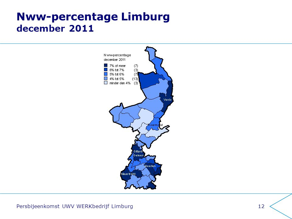 Nww-percentage Limburg december 2011