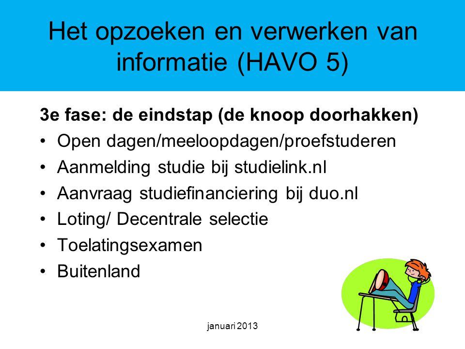 Het opzoeken en verwerken van informatie (HAVO 5)