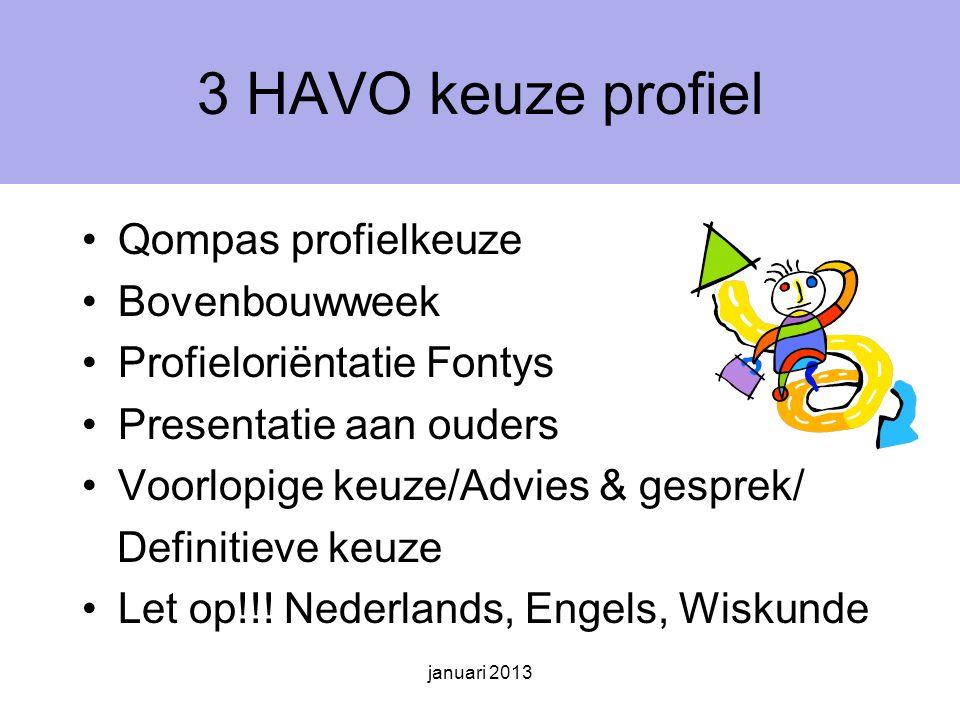 3 HAVO keuze profiel Qompas profielkeuze Bovenbouwweek