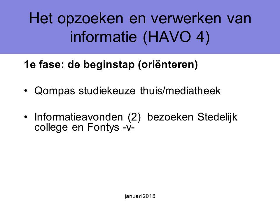 Het opzoeken en verwerken van informatie (HAVO 4)