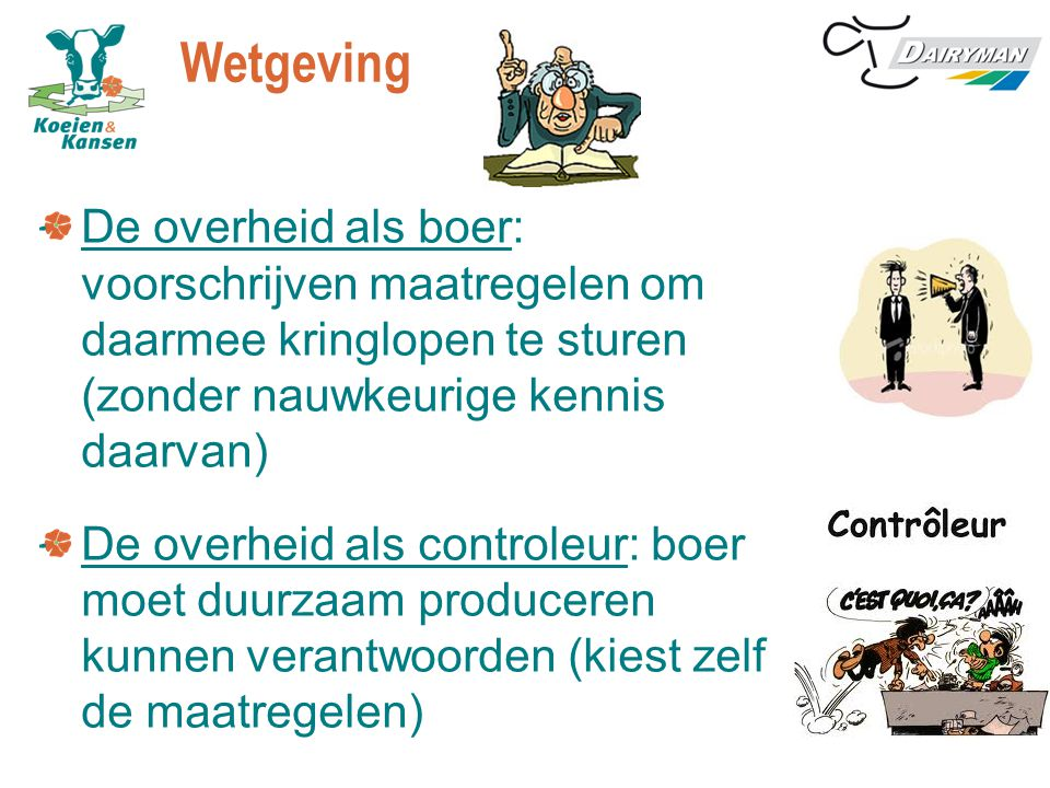 Wetgeving De overheid als boer: voorschrijven maatregelen om daarmee kringlopen te sturen (zonder nauwkeurige kennis daarvan)
