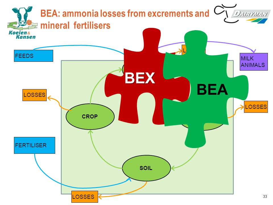BEA: ammonia losses from excrements and mineral fertilisers