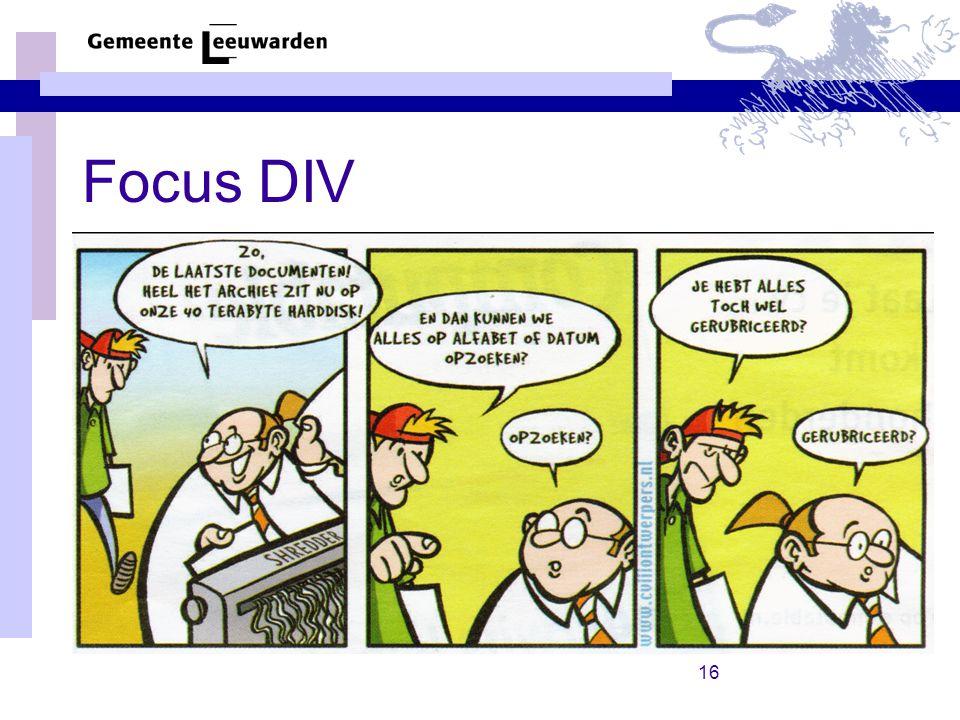 Focus DIV