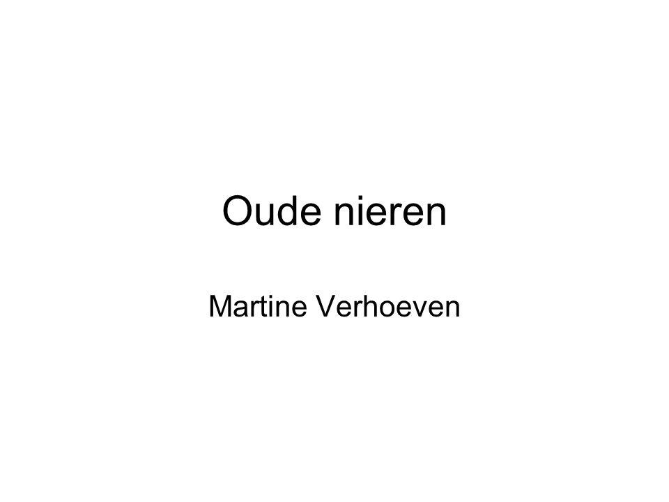 Oude nieren Martine Verhoeven