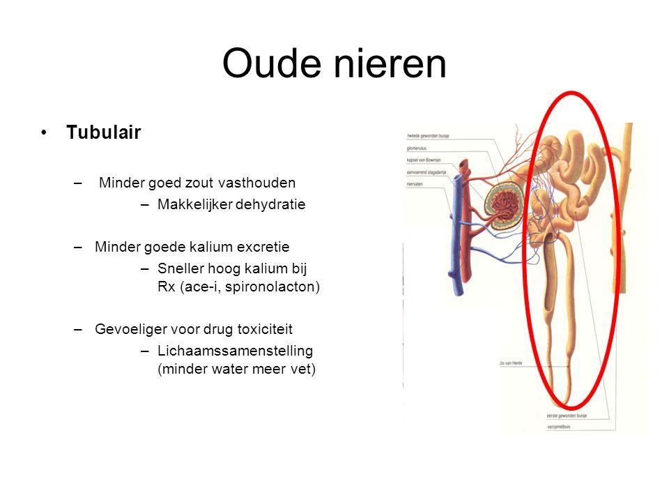 Oude nieren Tubulair Minder goed zout vasthouden