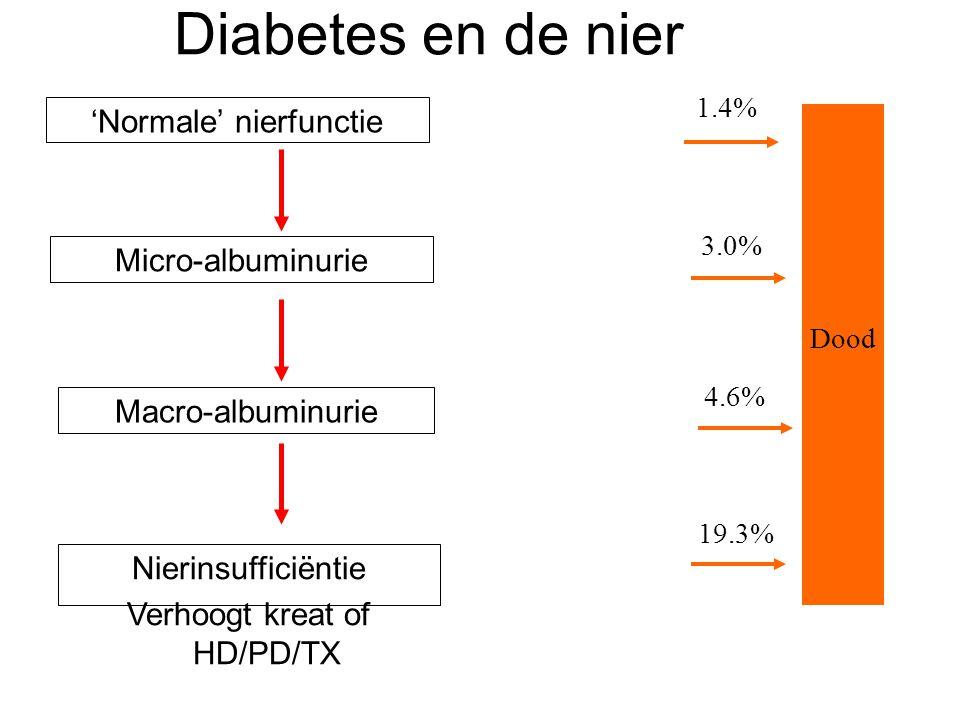 Diabetes en de nier 'Normale' nierfunctie Micro-albuminurie
