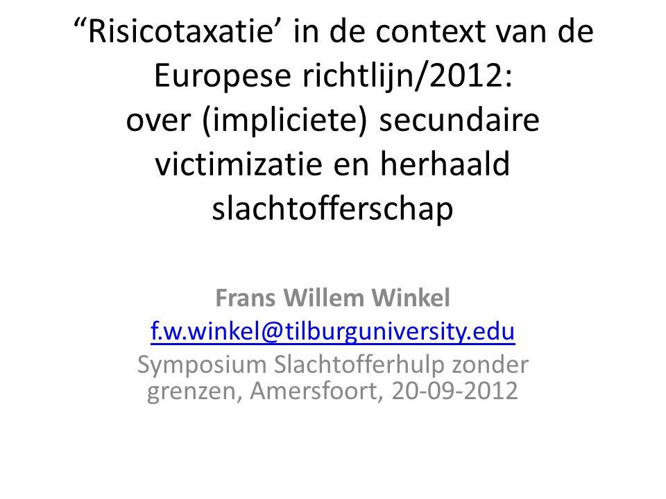 Symposium Slachtofferhulp zonder grenzen, Amersfoort, 20-09-2012