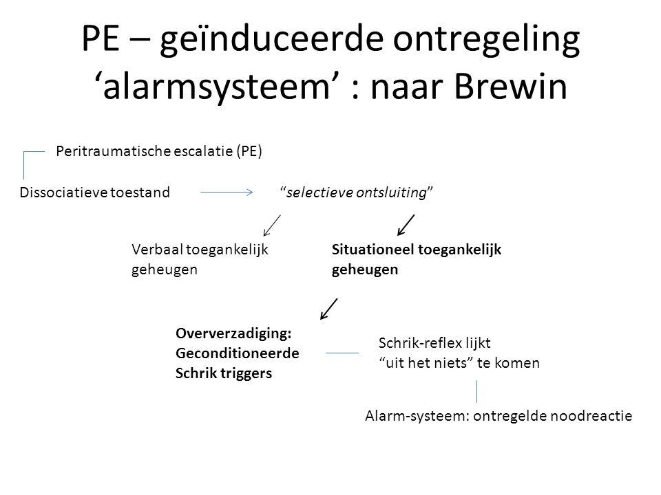 PE – geïnduceerde ontregeling 'alarmsysteem' : naar Brewin