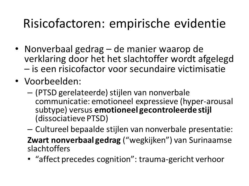 Risicofactoren: empirische evidentie