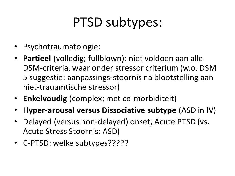 PTSD subtypes: Psychotraumatologie: