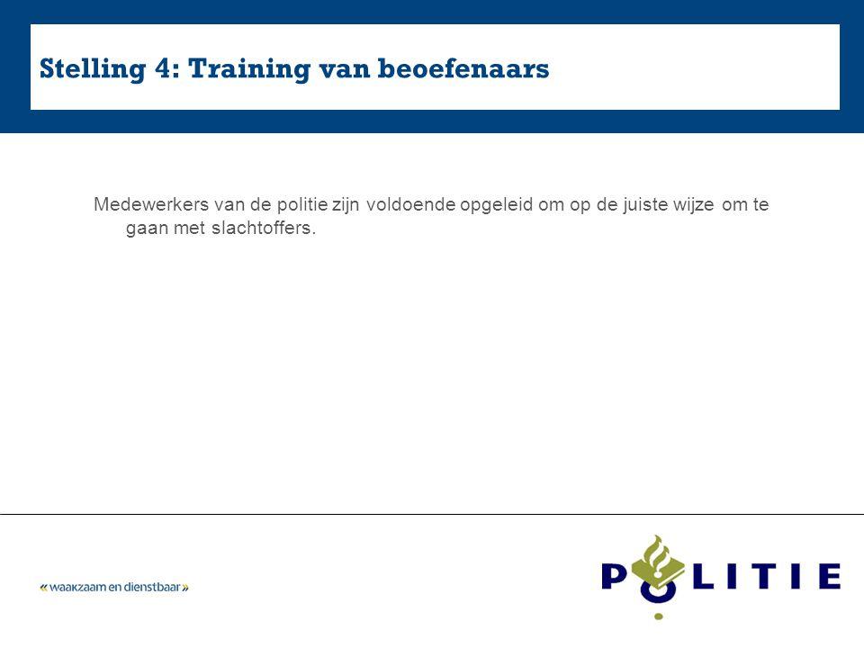 Stelling 4: Training van beoefenaars