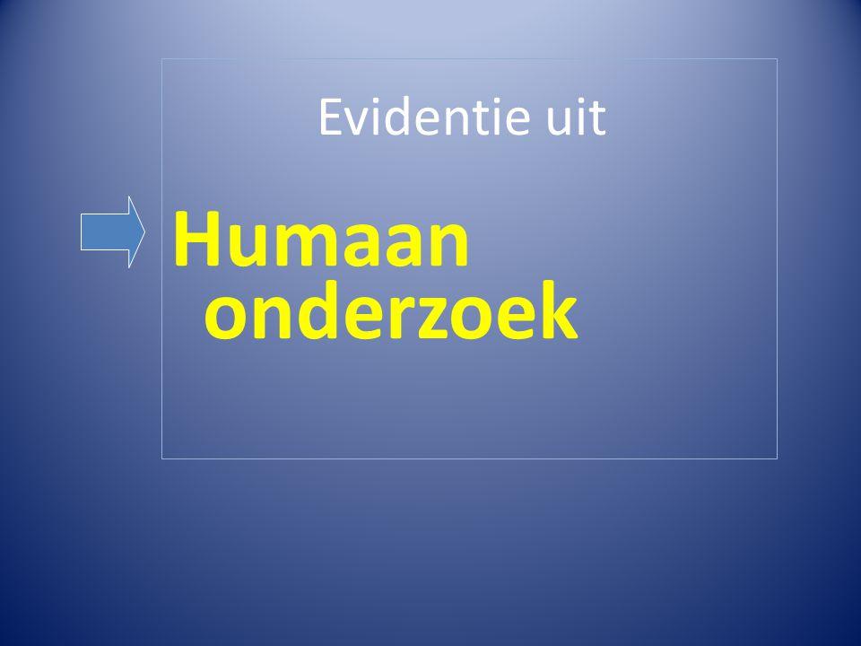 Evidentie uit Humaan onderzoek