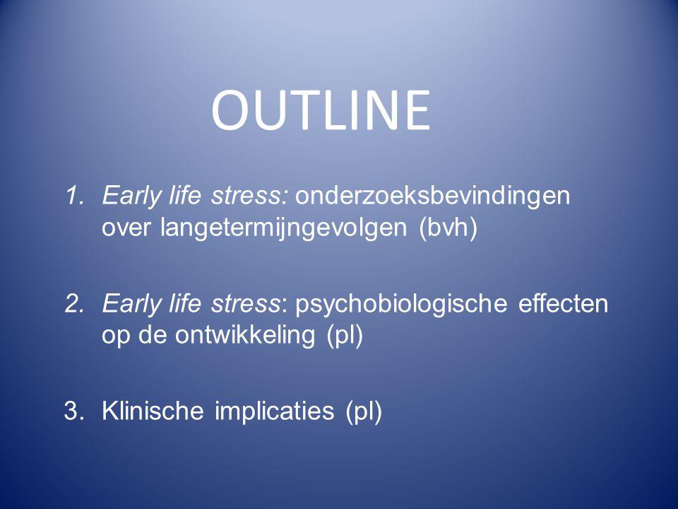 OUTLINE Early life stress: onderzoeksbevindingen over langetermijngevolgen (bvh)