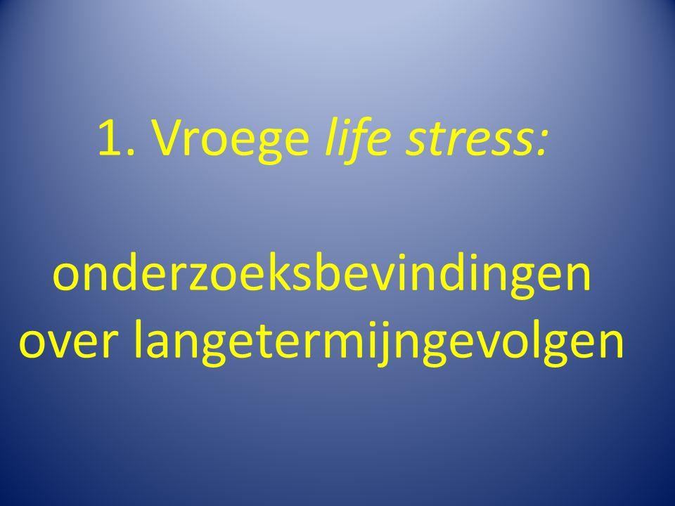 1. Vroege life stress: onderzoeksbevindingen over langetermijngevolgen