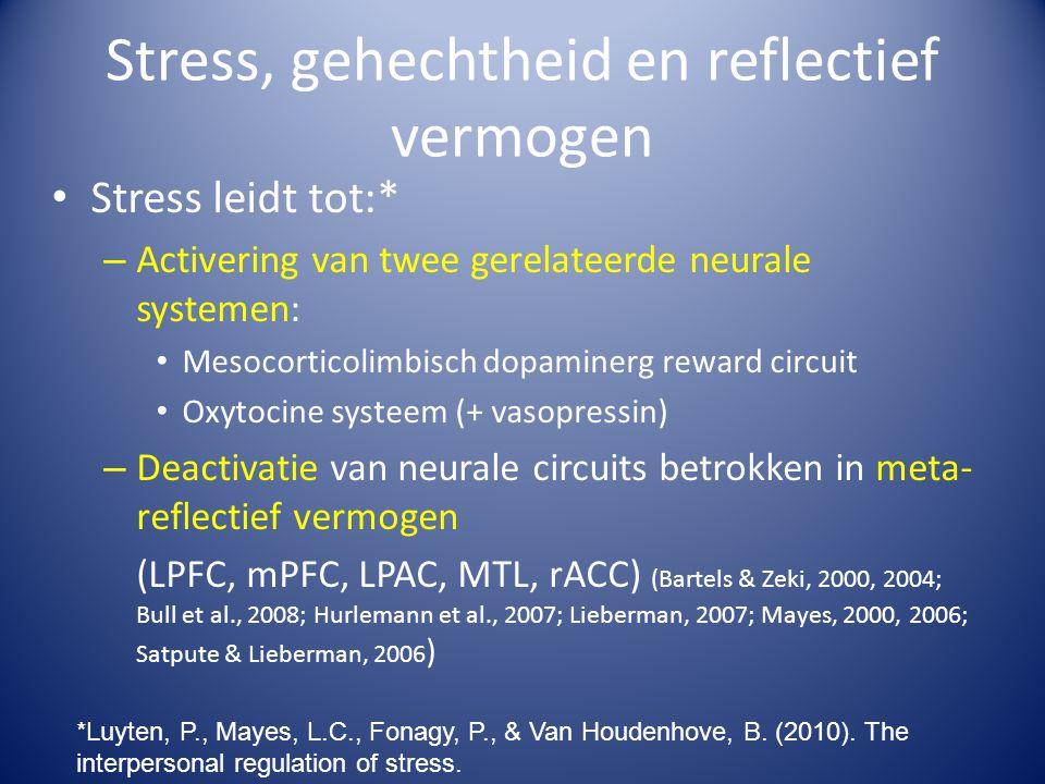 Stress, gehechtheid en reflectief vermogen