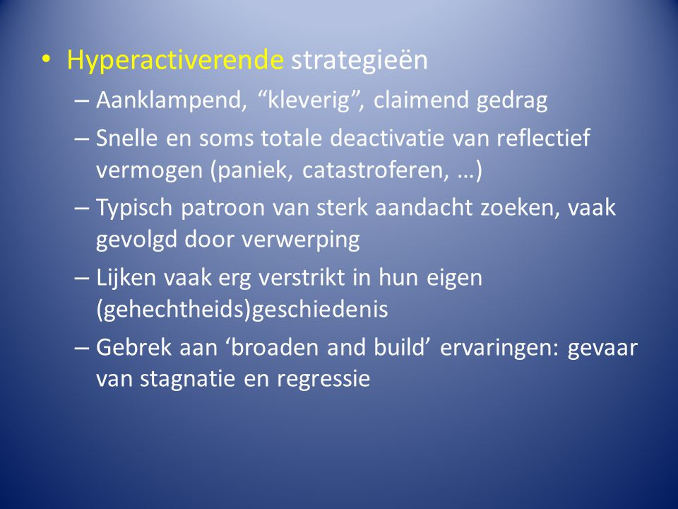Hyperactiverende strategieën