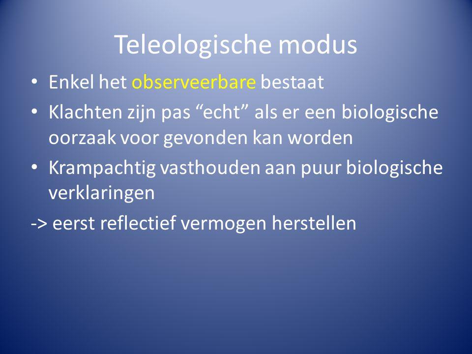 Teleologische modus Enkel het observeerbare bestaat