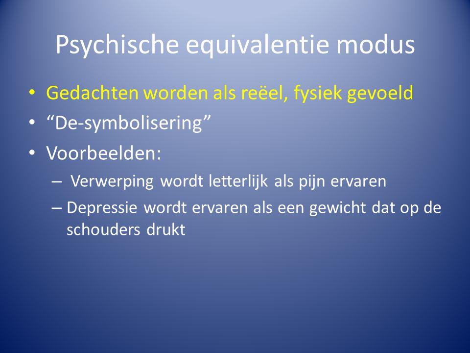 Psychische equivalentie modus