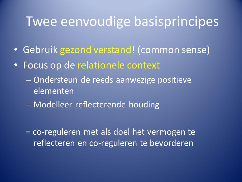 Twee eenvoudige basisprincipes