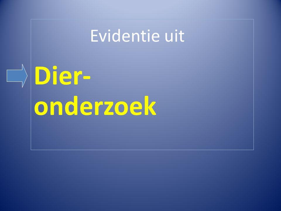 Evidentie uit Dier- onderzoek