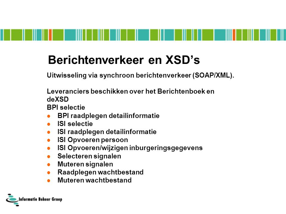 Berichtenverkeer en XSD's