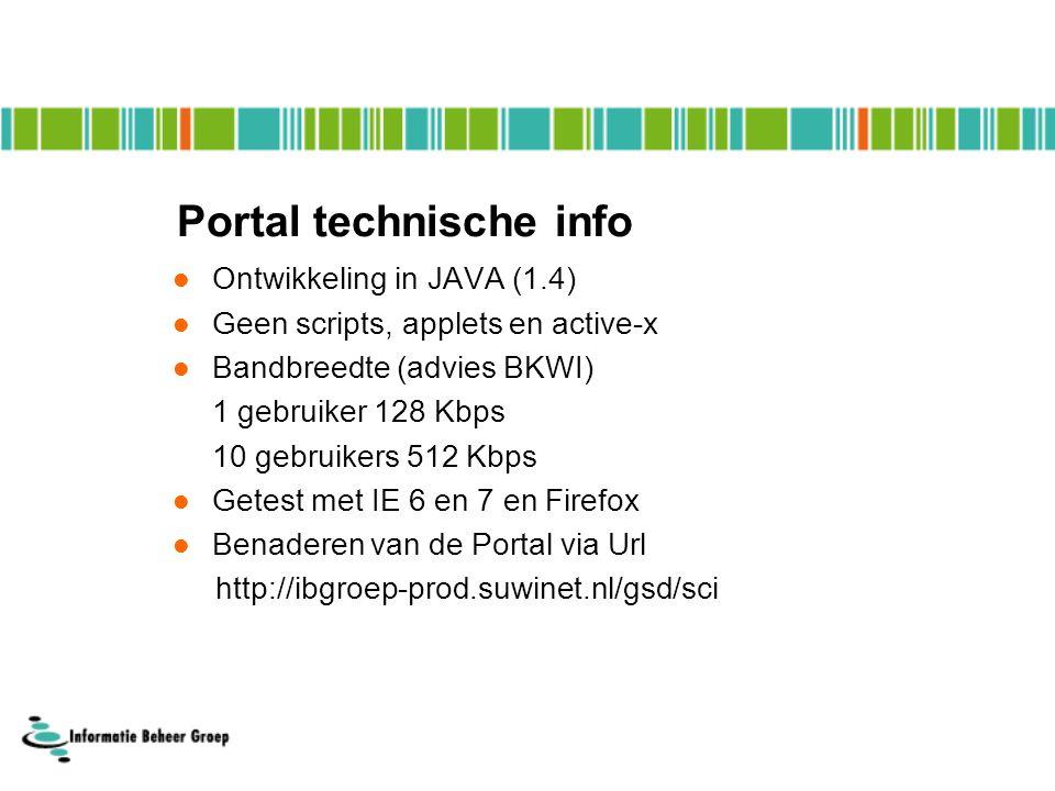 Portal technische info