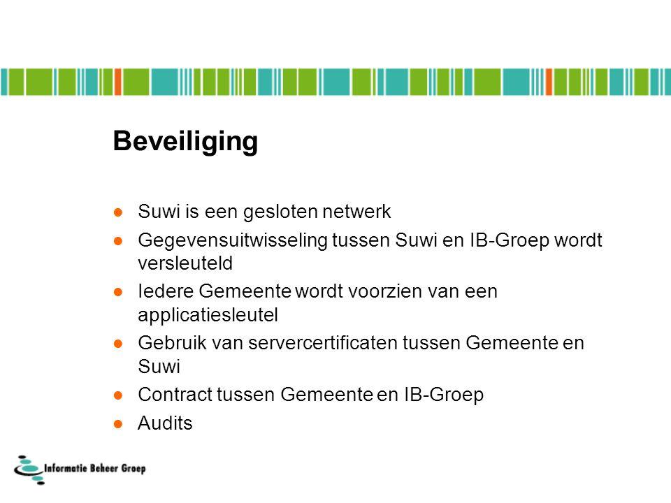 Beveiliging Suwi is een gesloten netwerk