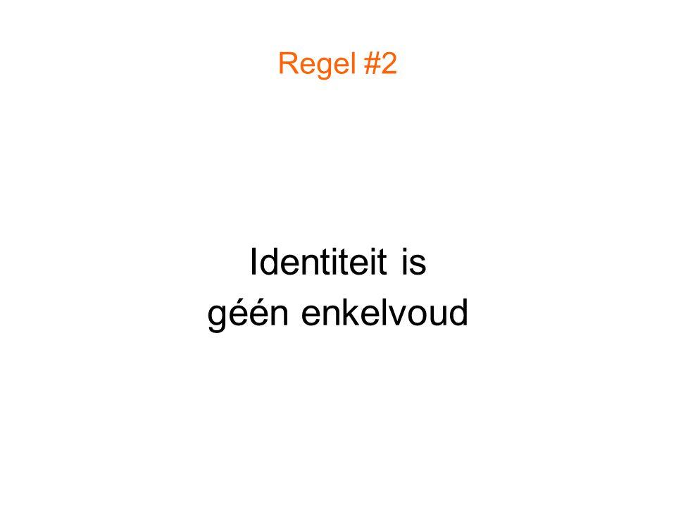 Identiteit is géén enkelvoud