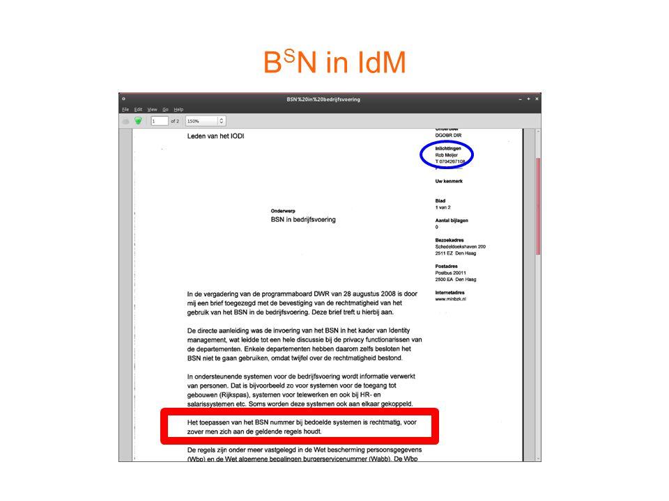 BSN in IdM