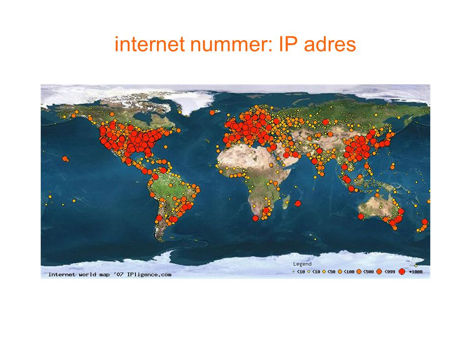 internet nummer: IP adres