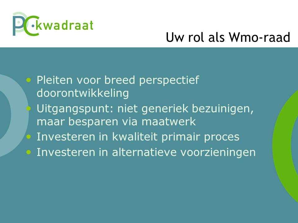 Uw rol als Wmo-raad Pleiten voor breed perspectief doorontwikkeling