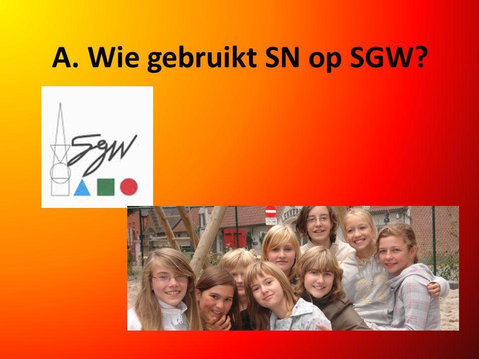A. Wie gebruikt SN op SGW