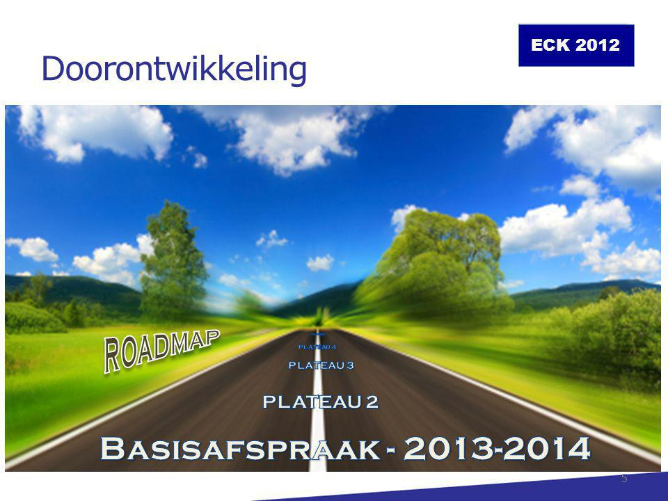 Doorontwikkeling Basisafspraak - 2013-2014 ROADMAP PLATEAU 2 PLATEAU 3