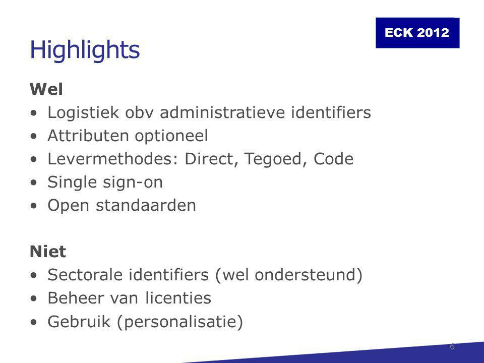 Highlights Wel Logistiek obv administratieve identifiers