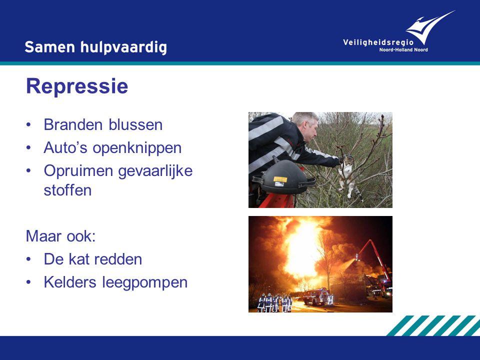 Repressie Branden blussen Auto's openknippen