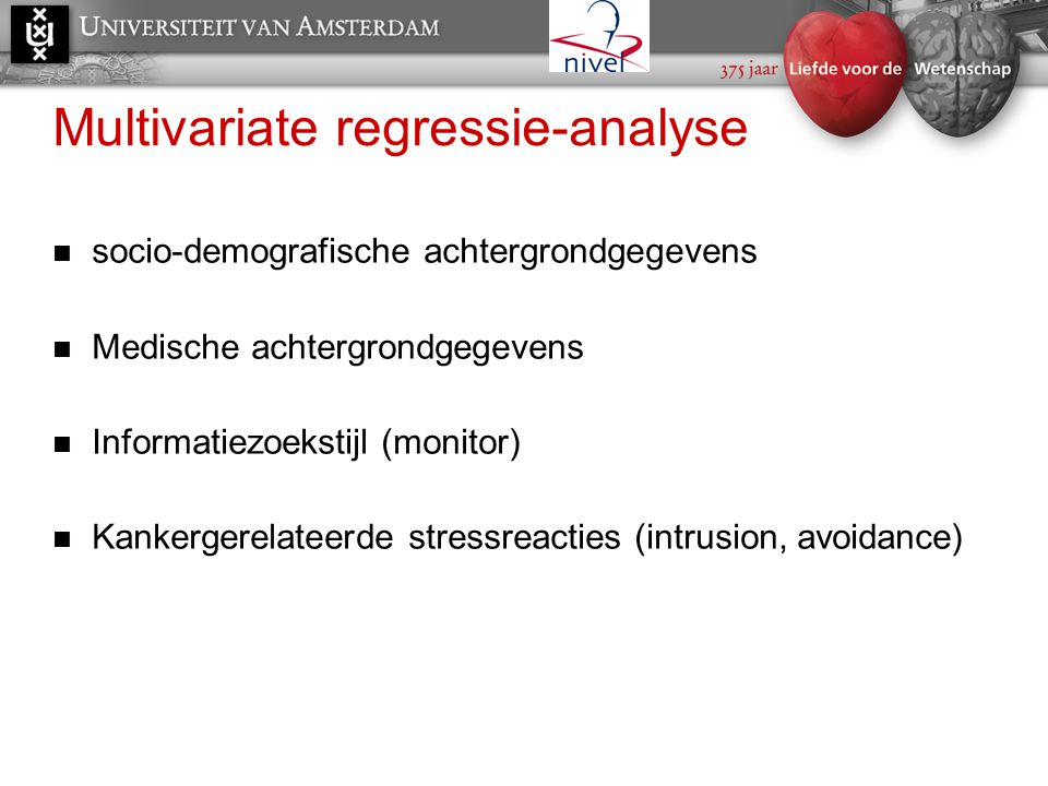 Multivariate regressie-analyse