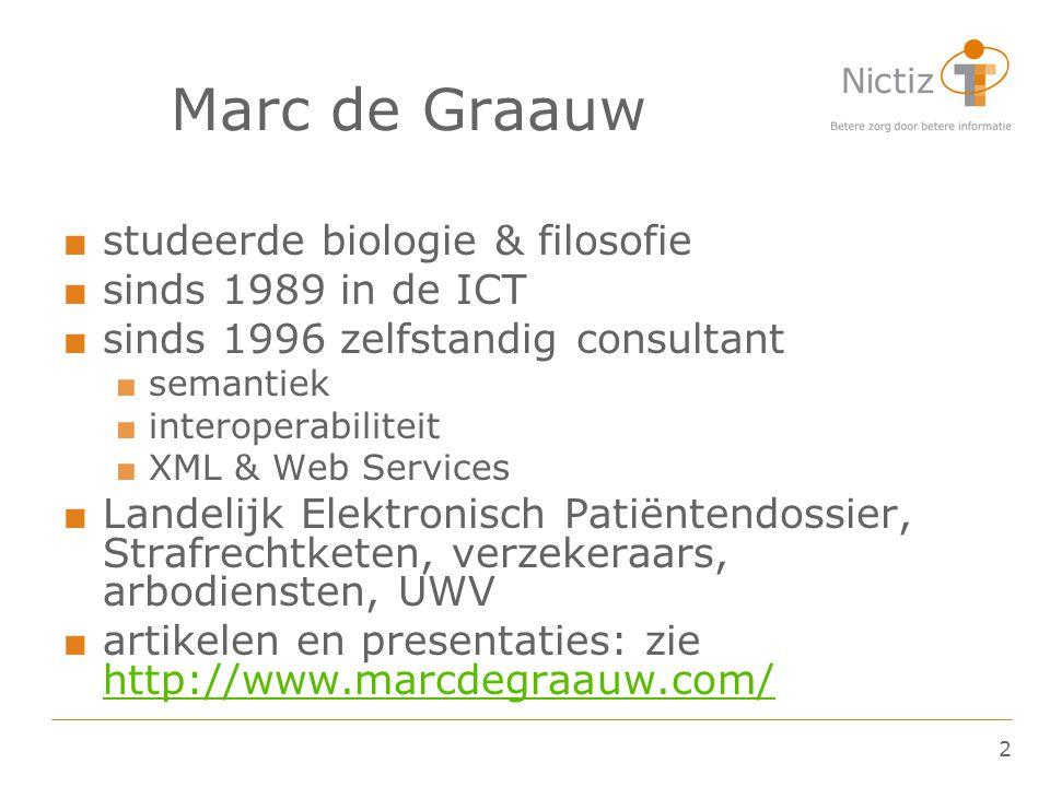 Marc de Graauw studeerde biologie & filosofie sinds 1989 in de ICT
