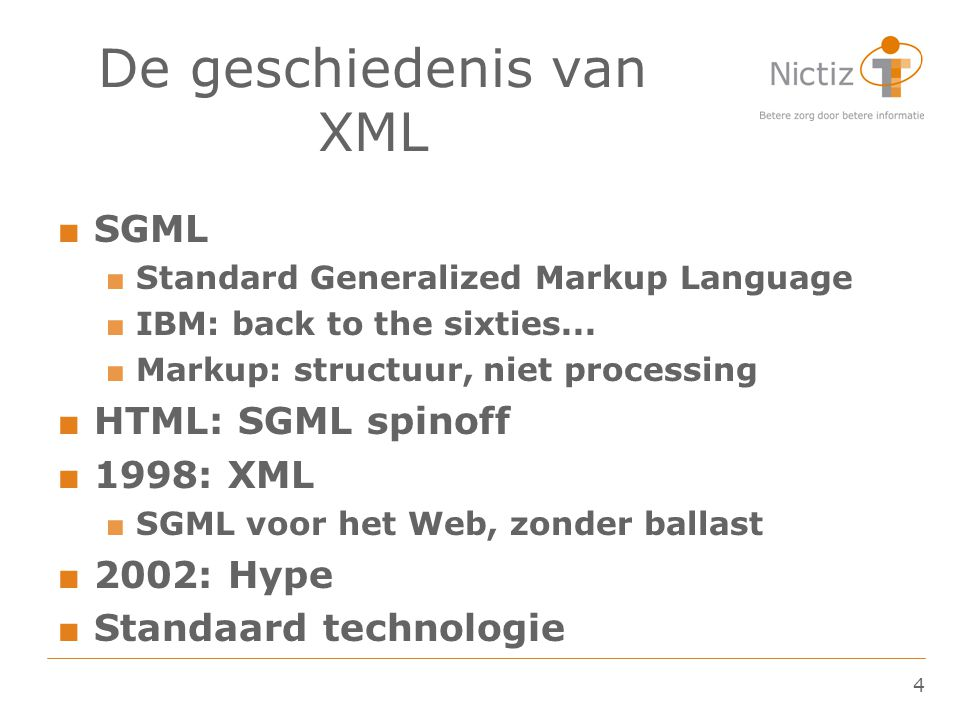 De geschiedenis van XML